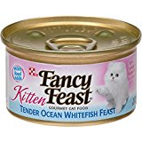 Fancy Feast Gourmet Kitten Formula Tender Ocean Whitefish Feast Canned Cat Food (24/3-oz cans)