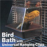 Pink Lizard Deluxe Bird Bathtub Bath Box Cage Accessory for Bird