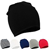 Zando Toddler Infant Kids Children Cotton Soft Cute Lovely Knit Hat Beanies Cap B 6 Pack-Mix Color2