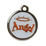 Engraved Design Small Tag - Angel - FREE FIRST CLASS POST, Fast Delivery, For engraving instructions see 'Product Description'