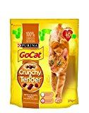 Go-Cat Dry Cat Food Crunchy Tender Chicken/Turkey/Vegetables, 375 g - Pack of 5