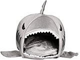 Cat Sister Colorfulhouse Shark Round House Puppy Bed with Pet Bed Mat (Medium)