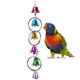 Colourful Ringer Bells Toy for Bird Parrot Macaw African Greys Budgies Parakeet Cockatiels Cockatoo Conure Lovebird Finch Cage Toy