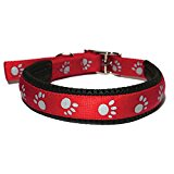Rosewood Soft Protection Reflective Collar, 20 x 3/4-inch, Red