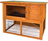 Ware Manufacturing Premium Plus Penthouse Rabbit Hutch Cage Outdoor Pet Shelter