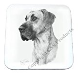 Mike Sibley Great Dane Dog Beverage Coaster