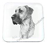Mike Sibley Great Dane Dog Beverage Coaster