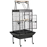 Beyondfashion Perfect Design 68'' Large Birds Cage for Cockatoo Parrot Bird FIron inch Bird Perch Stand