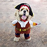 Pawz Road Pirates of the Caribbean Pet Costume Cartoon Dog Hoodies Halloween Transfiguration Equipment (fit about 7.5-15kg pets)