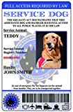 Service Dog ID Card European Union Version (Custom w/Holographic lamination)