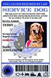 Service Dog ID Card European Union Version (Custom w/Holographic lamination)