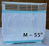 Bird Cage Tidy Seed Catcher Skirt Guard Pile Fabric Double Strap - White - Medium