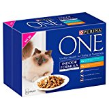 Purina One Indoor formula Wet Cat Food Tuna and Chicken in Gravy, 8 x 85 g - Pack of 5