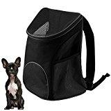 Candora Kyjen Dog Cat Pet Carrier Travel Mesh Bag Pooch Pouch Dog Backpack Carrier Pup Pack Traveler Carrier Padded Adjustable Shoulder Strap