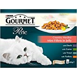 Purina Gourmet Perle Wet Cat Food Country Medley Mini Fillets in Jelly, 12 x 85g, Pack of 4