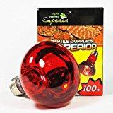 Reptile Infra Red Vivarium Heat Night Lamp Bulb Light 100W ES Screw Fitting