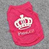 HuntGold New Cute Pet Dog Princess T-shirt Clothes Vest Summer Coat Puppy Costumes Outfit(Size: L)