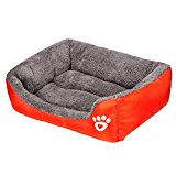 Pet Cozy House - Kingwo Dog Puppy Bed Cat Soft Warm House Comfortable Mat Blanket ,Completely Machine Washable (M, Orange)