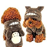 BXT Pet Dog Hoodie Coat Sweater Puppy Teddy Autumn Winter Clothes Warm & Cute Totoro Style Apparel