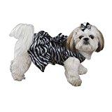 Zack & Zoey Platinum Print Zebra Dress Xxs Black P