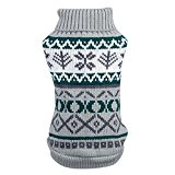 Silvercell Pet Dogs Snowflower Sweater Clothes Puppy Cat Coat Costumes Knitwear Grey L
