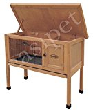 Wooden Dwarf Rabbit or Guinea Pig Easipet Hutch Wood House single storey (338)