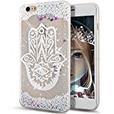 iPhone 6S Case,ikasus iPhone 6 Case,iPhone 6S Liquid Case,Clear with Pattern Flowing Liquid Floating Shiny Bling Glitter Sparkle Silver Stars Liquid Hard Back Case Cover for Apple iPhone 6S (2015)/ iPhone 6 (2014),Aquatic Plants