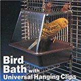 Bargain World Deluxe Bird Bathtub Bath Box Cage Accessory for Bird