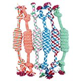 Pet Dog Chew Toy - Kingwo Puppy Dog Pet Toy Cotton Braided Bone Rope Chew Knot