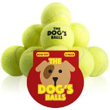 The Dog's Balls - 12 Dog Tennis Balls - Premium, Strong, Dog Ball Dog Toy for Dog Training, Dog Play, Dog Exercise and Dog Fetch. Tough Dog Balls for Chuckit Launchers. Bouncy Tennis Ball for Your Puppy too, No Dog Toy Squeaker, The King Kong of Dog Balls! Held in a Drawstring Carry Bag - Woof Woof:)