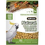 ZuPreem Natural - Complete food for Large Parrots - 3lb