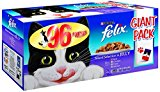 Felix Mixed Selection in Jelly Wet Cat Food Pouch, 100 g (Pack of 96)