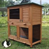 2 Tier Rabbit Hutch & Run Guinea Pig House Cage (RH06)