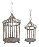 Deco 79 Metal Bird Cage, 24-Inch and 17-Inch, Set of 2 by UMA Enterprises - LG