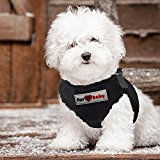 Dog Harness with a choke-free style. 100% Satisfaction Guarantee (SI Black, Small) by FurBaby