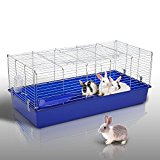 Pawhut Large Rabbit Cage Guinea Pig Chinchilla Rat Hutch House Playpen Run 120(L) X 58(W) X 40(H)cm