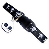 Cool Cat Collar | Skull and Crossbones | Safety Collar with Bell
