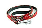 SALE! Pet Palace® Tartan Plaid fabric Dog Lead for dogs proud of their heritage (RED)