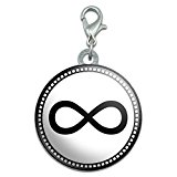 Infinity Symbol Stainless Steel Pet Dog ID Tag