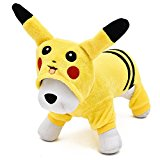 Cilk Costume Dog Clothes Double Thick Flannel Pikachu Pet Dog Clothes Fall and Winter (XL)