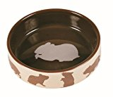 Ceramic Pet Food Bowl with Hamster Motif 80ml 8cm
