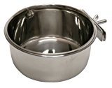 Kerbl Stainless Steel Cup with Holder for Rabbit, 600 ml, 12 cm