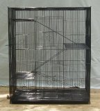 New Large Economical 4 Levels Ferret Chinchilla Sugar Glider Rats Cage For Small Animal or Bird 30Length x 18Depth x 36Height *Black* by Mcage