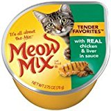 Meow Mix Market Select with Real Chicken & Liver in Gravy Cat Food 2.75 oz (Pack of 24) by Meow Mix