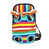 YSM Colorful Pet Carrier Legs Out Lightweight Outdoor Travel Dog Cat Carrier Handsfree Pet Backpack(S,M,L,XL)