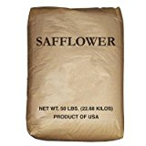 50 Lb. Bulk Bag Wagner's Safflower Wild Bird Food Seed Attracts Cardinals, Chickadees, Titmice, Doves, Woodpeckers and Grosbeaks. High Quality Birdseed for Your Backyard Birdfeeder Discourages Squirrels by Wagner's