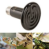 sourcingmap E27 AC 220V 150W Infrared Lamp Ceramic Reptile Heater Bulb Emitter Natural Appliances Grow Light Black Pet