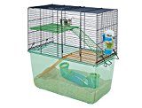 Savic Habitat Navy Blue Gerbil Cage, 52 x 26 x 52.5 cm