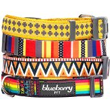 Blueberry Pet Nautical Flags Inspired Designer Basic Dog Collar, Neck 37cm-50cm, Medium, Collars for Dogs, Matching Lead Available Separately