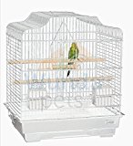LIBERTA SIAM WHITE BUDGIE CANARY FINCH BIRD CAGE NEW STYLE FEEDER PERCHES SWING
